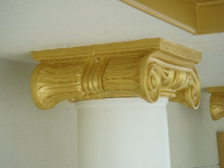 Fiberglass Column Cover Capital 3