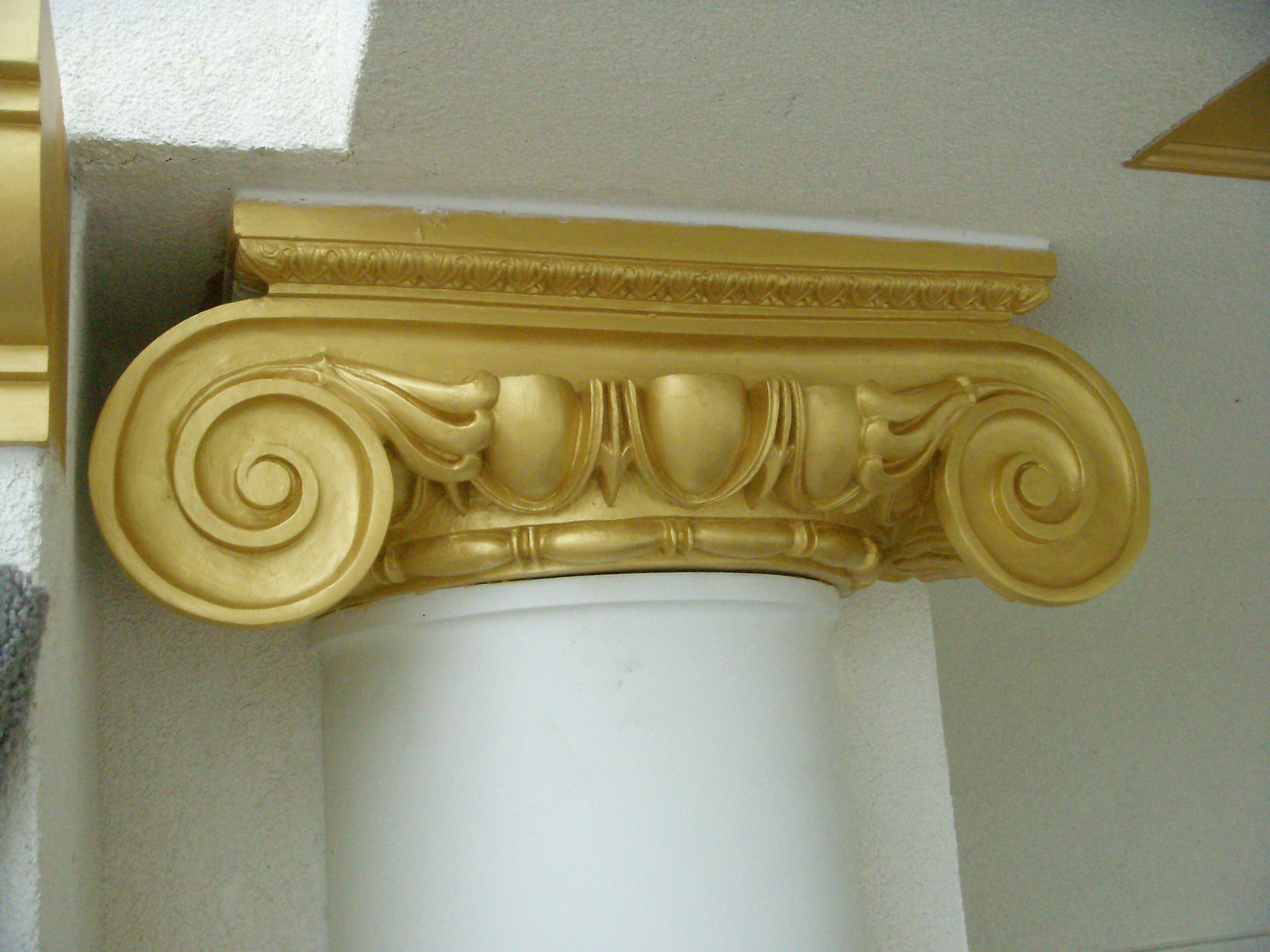 Fiberglass Column Cover Capital
